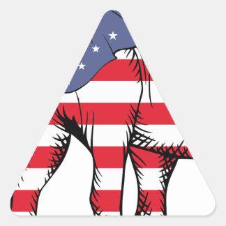 Patriotic Elephant Triangle Sticker