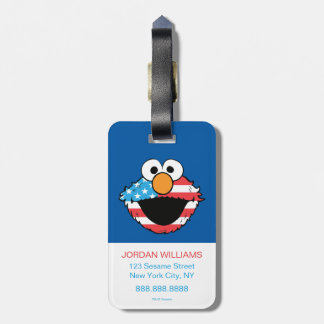Patriotic Elmo Luggage Tag