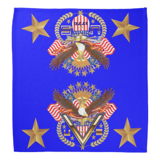 Patriotic Family or Veteran View About Design Kerchiefs