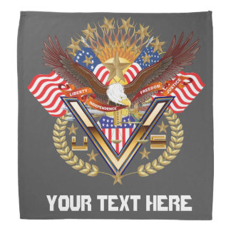 Patriotic Family or Veteran View About Design Bandanas