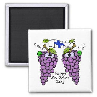 Patriotic Finnish Grapes Magnet