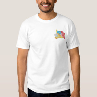 Patriotic Firefighter Embroidered T-Shirt
