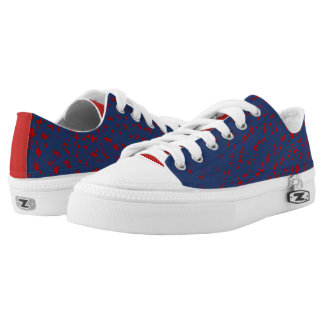 Patriotic Firespark Design Printed Shoes