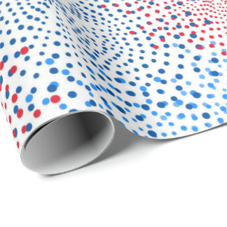 Patriotic Fireworks pattern party wrapping paper