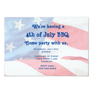 Patriotic Flag 4th of July Party 9 Cm X 13 Cm Invitation Card
