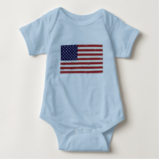 Patriotic Flag Baby Bodysuit