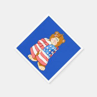 Patriotic Flag Bear Paper Napkin