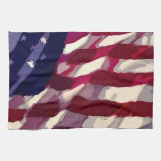 Patriotic Flag Dishtowl Tea Towel