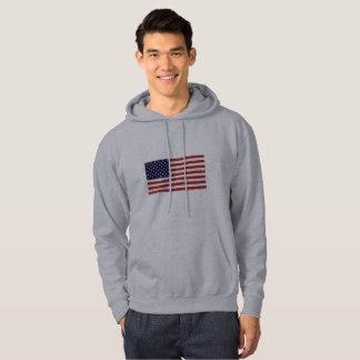 Patriotic Flag men's Hoodie
