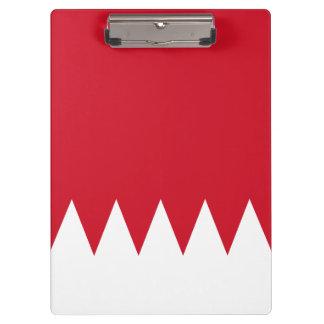 Patriotic Flag of Bahrain Clipboard