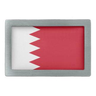 Patriotic Flag of Bahrain Rectangular Belt Buckles