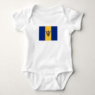 Patriotic Flag of Barbados Baby Bodysuit