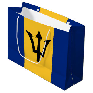 Patriotic Flag of Barbados Large Gift Bag