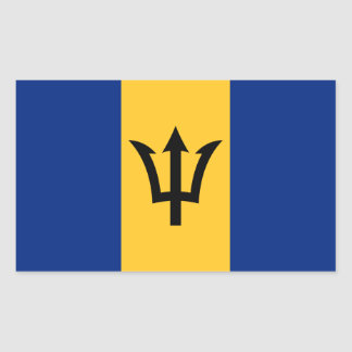 Patriotic Flag of Barbados Rectangular Sticker