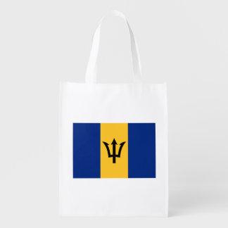 Patriotic Flag of Barbados Reusable Grocery Bag