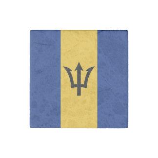 Patriotic Flag of Barbados Stone Magnet