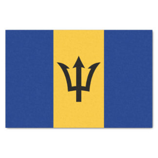 Patriotic Flag of Barbados Tissue Paper