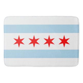 Patriotic Flag of Chicago Bath Mats