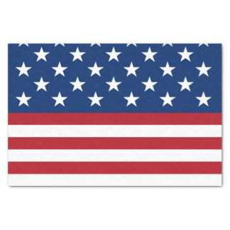 Patriotic flag patternparty tissue paper