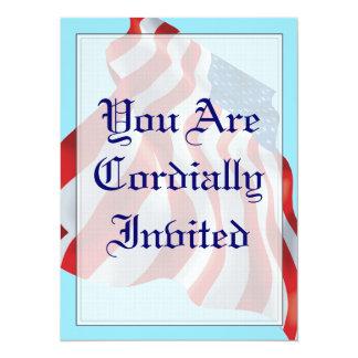 Patriotic Flag Wedding Invitation