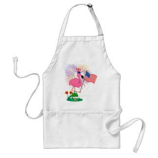 Patriotic Flamingo BBQ Apron