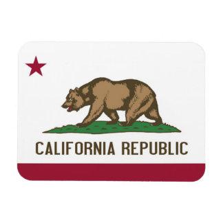 Patriotic flexible magnet with California flag