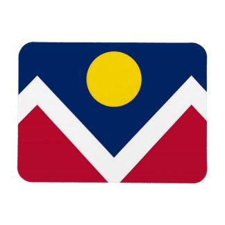 Patriotic flexible magnet with Denver City flag