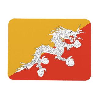 Patriotic flexible magnet with flag of Bhutan