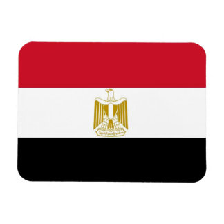 Patriotic flexible magnet with flag of Egypt