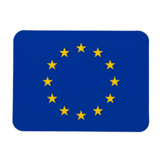 Patriotic flexible magnet with flag of Europe