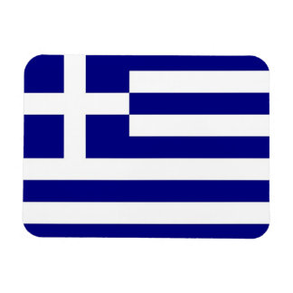 Patriotic flexible magnet with flag of Greece