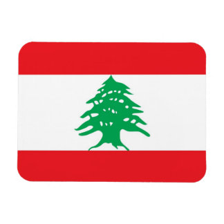 Patriotic flexible magnet with flag of Lebanon