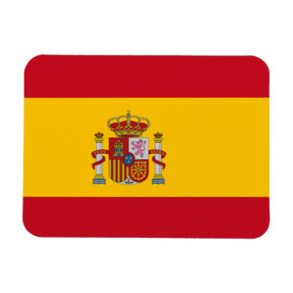 Patriotic flexible magnet with flag of Spain