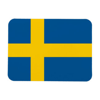 Patriotic flexible magnet with flag of Sweden