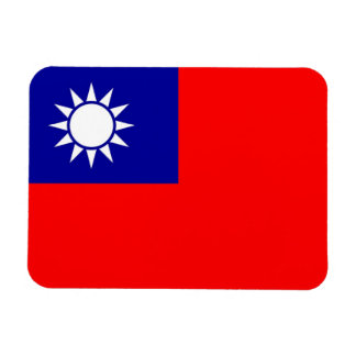 Patriotic flexible magnet with flag of Taiwan