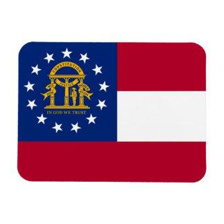 Patriotic flexible magnet with Georgia flag