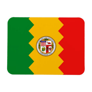 Patriotic flexible magnet with Los Angeles flag
