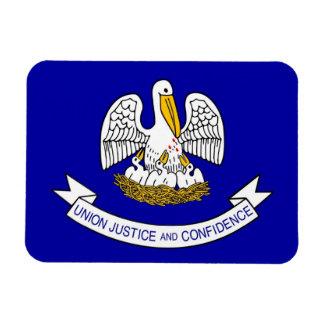 Patriotic flexible magnet with Louisiana flag
