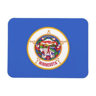 Patriotic flexible magnet with Minnesota flag