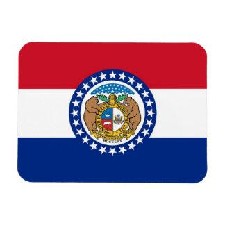 Patriotic flexible magnet with Missouri flag