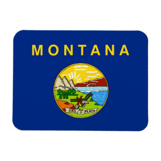 Patriotic flexible magnet with Montana flag