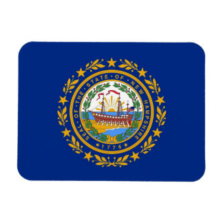 Patriotic flexible magnet with New Hampshire flag
