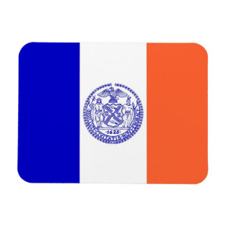 Patriotic flexible magnet with New York City flag
