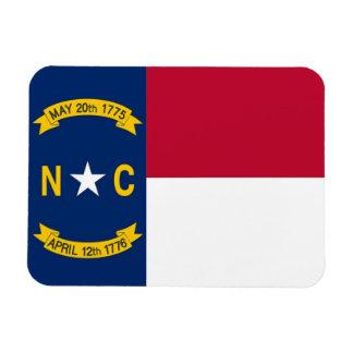 Patriotic flexible magnet with North Carolina flag