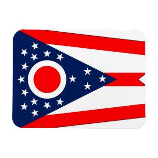 Patriotic flexible magnet with Ohio flag