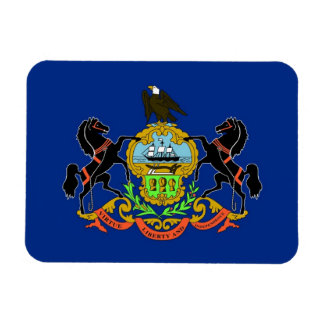 Patriotic flexible magnet with Pennsylvania flag