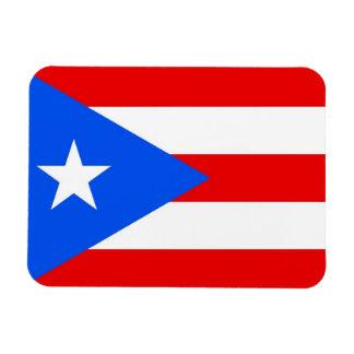 Patriotic flexible magnet with Puerto Rico flag