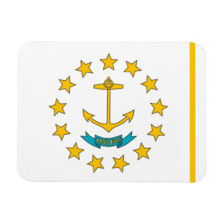 Patriotic flexible magnet with Rhode Island flag