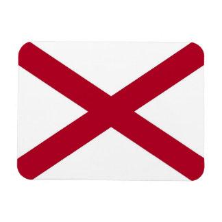 Patriotic flexible photo magnet with Alabama flag