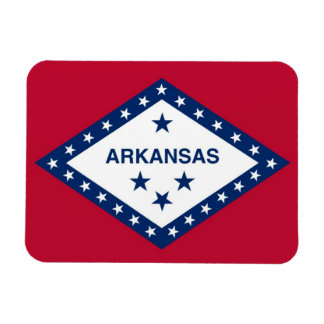 Patriotic flexible photo magnet with Arkansas flag